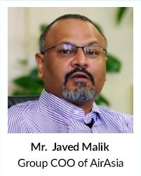Mr Javed Malik, Group COO of AirAsia