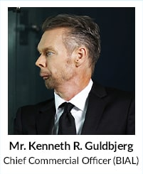 Mr Kenneth Guldbjerg, Chief Commercial Office BIAL