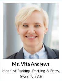 Ms Vita Andrews, Head of Parking, Swedavia AB
